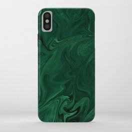 Modern Cotemporary Emerald Green Abstract iPhone Case
