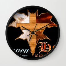 Heaven & Hell Bat Wall Clock