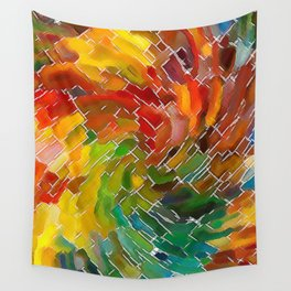 Upright Stained Twist Wall Tapestry