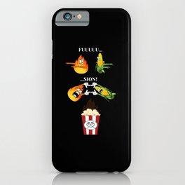 Feuer und Mais zu Popcorn, fusion iPhone Case