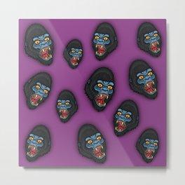 Gorilla Pattern Metal Print