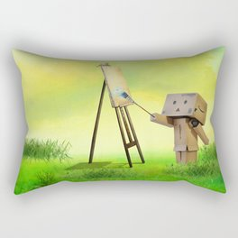 Danbo the artist Rectangular Pillow