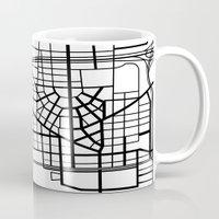 detroit Mugs featuring Detroit Streets by AnnieK