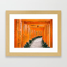 Fushimi Inari Shrine Framed Art Print