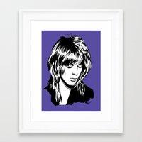 randy c Framed Art Prints featuring Randy Rhoads by Laura Meg