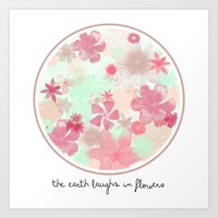 The Earth Laughs In Flowers. Art Print