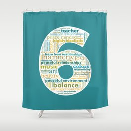 Life Path 6 (color background) Shower Curtain