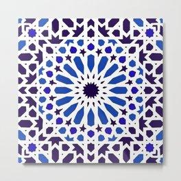-A18- Original Traditional Moroccan Tile Design. Metal Print