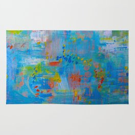 Colorful Abstract Wall Art, Vibrant colors, Contemporary home decor Rug
