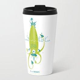 K is for Kraken Travel Mug
