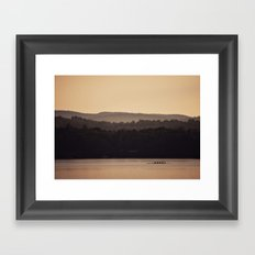 Sculling at Dawn Framed Art Print