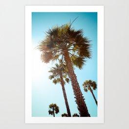 Palm Tree Beach Life Art Print