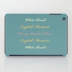 Ham and Mustard iPad Case
