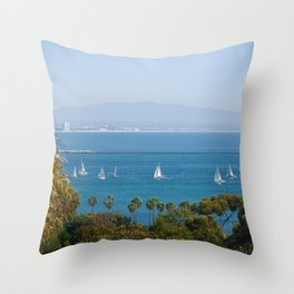 San Deigo Sailing Throw Pillow