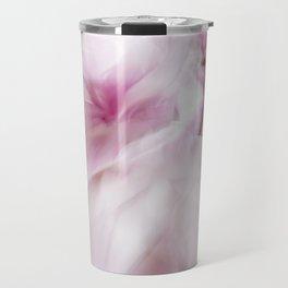Pink Magnolia Swirl Travel Mug