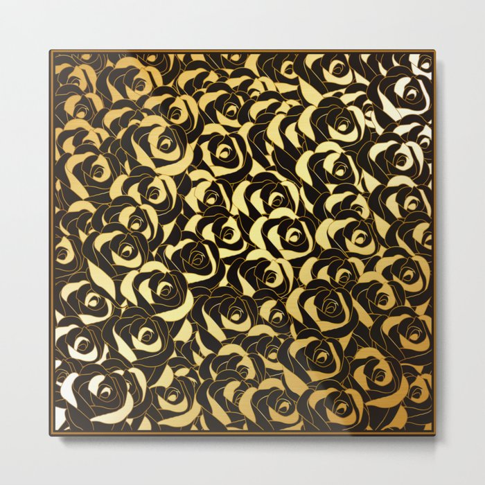 Golden Roses Metal Print