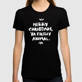 Merry Christmas, Ya Filthy Animal – Red T-shirt