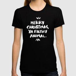 Merry Christmas, Ya Filthy Animal – Red T-shirt