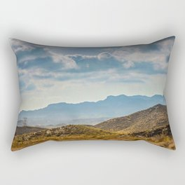Panoramic view to the mountains in motion, Spain. Dramatic toning Rectangular Pillow