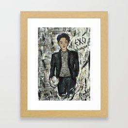 Nail Polish Painting of EXO chanyeol Framed Art Print