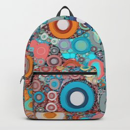 Colorful Abstract optical Ilusion Backpack