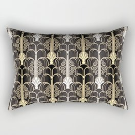 Art Deco black/gold Rectangular Pillow