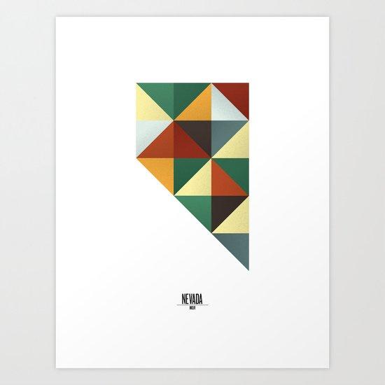 Geometric Nevada Art Print