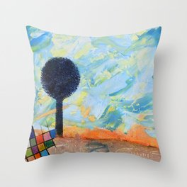 Les envahisseurs / The invaders Throw Pillow