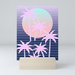 Hello Miami Moonlight Mini Art Print