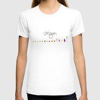vegan T-shirts featuring Vegan by zibrain
