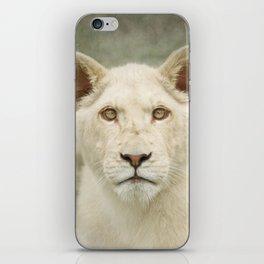 White lion cub iPhone Skin