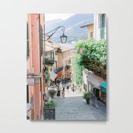 Street in Bellagio | Lake Como, Italy | Fine Art Travel Photography Print | Italy Wall Art Metal Print