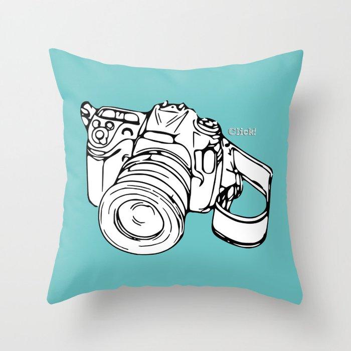 Click! Throw Pillow