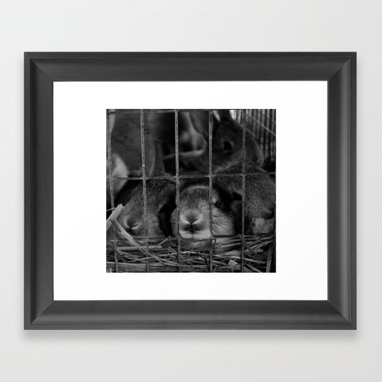 Lunch Line Framed Art Print