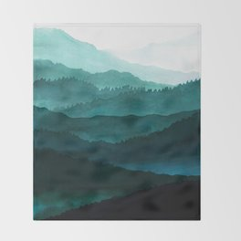 Indigo Mountains Throw Blanket