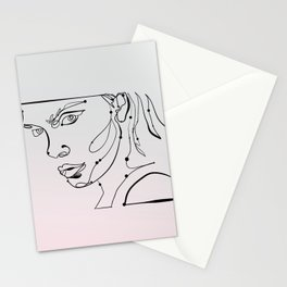 transparent like the eyes (letting everything go) Stationery Cards