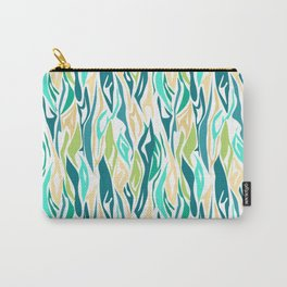 22 abstract turquoise cream Carry-All Pouch