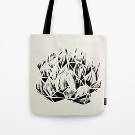Haworthia Succulent Black-White Print Tote Bag