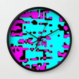 jitter, violet and blue 7 Wall Clock