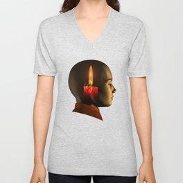 soul, human spirit, inner light Unisex V-Neck