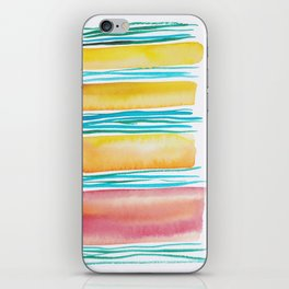 12   |181026 Lines & Color Block | Watercolor Abstract | Modern Watercolor Art iPhone Skin