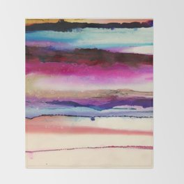 The Sun Sets and Rises Again (an Abstract of Hope) Throw Blanket