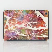 stockholm iPad Cases featuring Stockholm by MapMapMaps.Watercolors