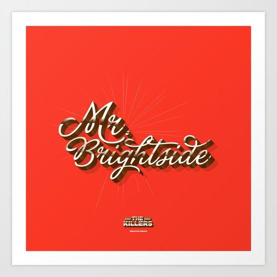 Mr. Brightside Art Print