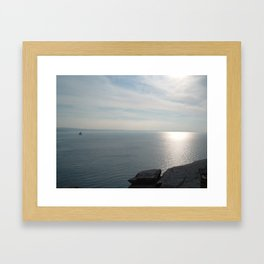 A KING'S VIEW TINTAGEL CASTLE CORNWALL Framed Art Print