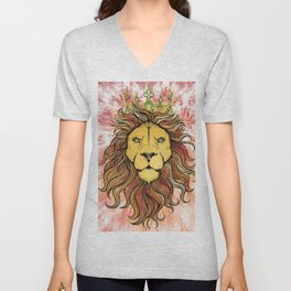 King The Lion Unisex V-Neck