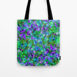 Floral Abstract Stained Glass G295 Tote Bag
