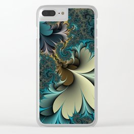 Birds of a Feather Fractal Clear iPhone Case