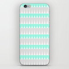 Mint & Silver Scallop iPhone & iPod Skin