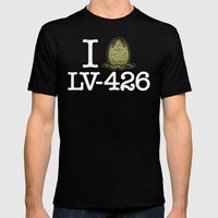 I Love LV-426 Black LARGE Mens Fitted Tee